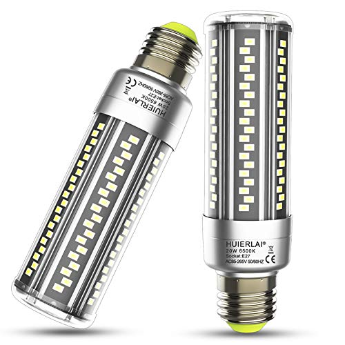 E27 LED Lampe 20W Led Glühbirnen Led E27 Kaltweiß 6500K 2500LM Ersatz 200W Glühlampe, E27 Led Mais Birne Led Birnen Maiskolben Kerze Licht Lampen Leuchtmittel Energiesparlampe, 2er Pack