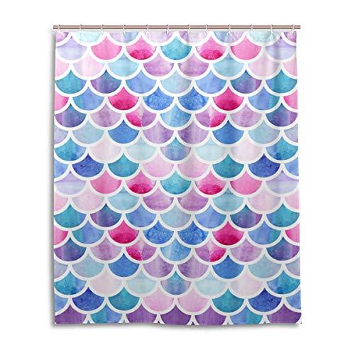 JSTEL Decor Rideau de Douche Motif sirène 100% Polyester 152 x 183 cm