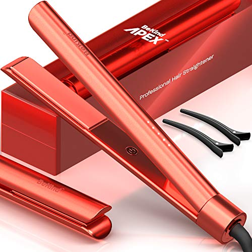 Bekind Apex 2in1 Hair Straightener Flat Iron Straightener and Curler for All Hairstyles 15s Fast Heating Temperature Memory Gift for Girls Women  Limited Edition Living Coral