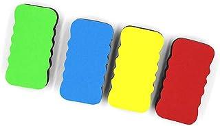 磁気消しゴム、4パックカラフルなホワイトボード黒板ドライ消しゴムマーカー(10.5 * 5.5 * 2 cm)