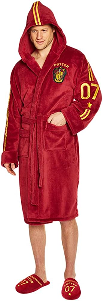 Challenge the lowest price of Japan ☆ Max 55% OFF Groovy Harry Potter Fleece Pigiami Quidditch Bathrobe