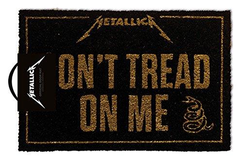 empireposter Metallica - Dont Tread On Me - Fußmatte Türmatte Fußabtreter, Größe: 60 x 40 cm, Material Kokosfaser