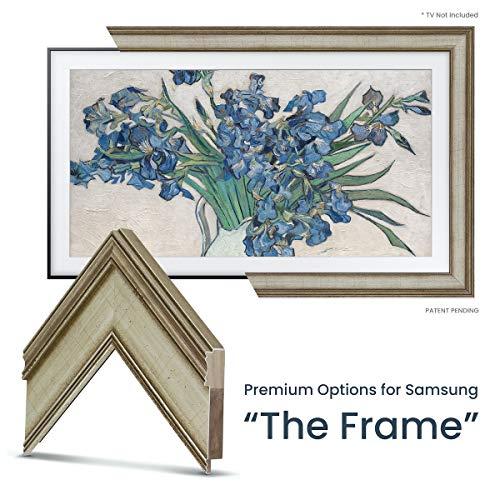 New Deco TV Frames - Warm Silver Frame Custom for Any Size Samsung The Frame TV (6 Corner Sample)