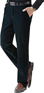 KLJR Men Luxury Cotton High Rise Corduroy Adjustable Trouser Pants