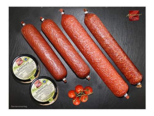Wurstpaket I Wurst aus dem Thüringer Wald I Leberwurst I Salami I Kochsalami