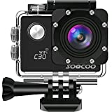 4K WiFi Action Sport Camera Waterproof Cam,SOOCOO C30 Video Camera 20MP 2 inches LCD 170 Degree Wide Angle 30m Underwater Camcorder 2 1350mAh Batteries 18 Accessories Kit SD Card Not Included Black