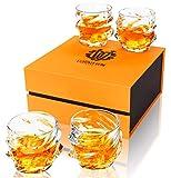 calliva von 4-Pezzi Bicchieri Whisky Cristallo, Bicchieri da Whiskey Cristallo Senza Piombo, 320 ml