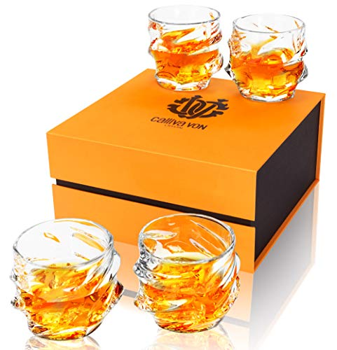 calliva von Vaso de Whisky, Copas de Whiskey Cristal Sin Plomo, 320...