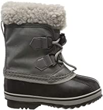 Sorel - Youth Yoot Pac Nylon Winter Snow Boot for Kids, Quarry, Dove, 13 M US