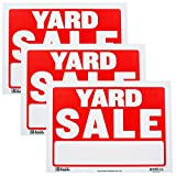 Bazic Small 9 x 12 Inches Yard Sale Sign, Pack of 3 (S-16)