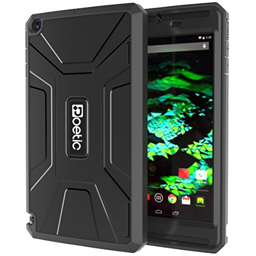 NVIDIA SHIELD Tablet K1 / NVIDIA SHIELD Tablet Case - Poetic [REVOLUTION Series] NVIDIA SHIELD Tablet 8.0-inch Case - Rugged Hybrid Case with Built-in Screen Protector for NVIDIA SHIELD Tablet K-1 (2015) / NVIDIA SHIELD Tablet (2014) Black (3-Year Manufacturer Warranty from Poetic)