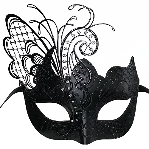 Masquerade Mask For Women Venetian Mask/Halloween/Party/Ball Prom/Mardi Gras/Wedding/Wall Decoration(Black butterfly)
