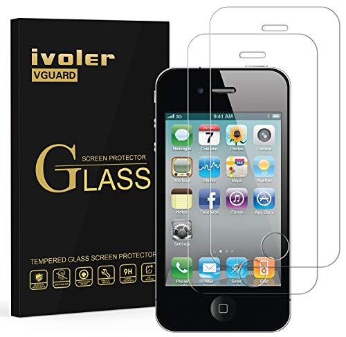 ivoler [2 Unidades] Protector de Pantalla para iPhone 4S / iPhone 4,...