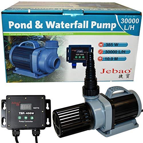 Jebao TSP ECO vijver Koi filterpomp DM pomp, 45-385 watt, opvoerhoogte 8 meter, elektronisch regelbaar met controller - TSP 30000
