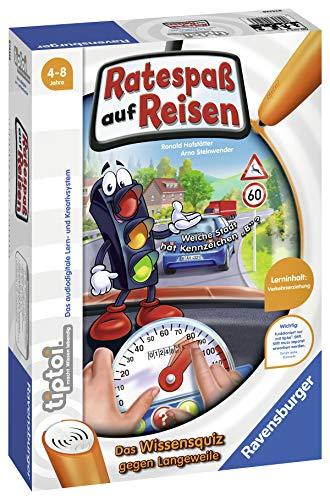"""Ravensburger tiptoi 00525 - \""""Ratespaß auf Reisen\"""" / Spiel von Ravensburger ab 4 Jahren / Praktisch für Unterwegs - Sachwissen zu den Themen Straßenverkehr und Verkehrssicherheit"""
