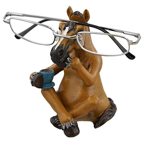 Whimsical Sitting Horse Eyeglasses Holder Stand - Fun Glasses Keeper