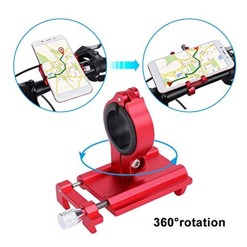 Fahrrad Telefonhalterung Bike Phone Holder Fahrrad Lenker Handy-Halterung Universal für iPhone Samsung Android(Rot)