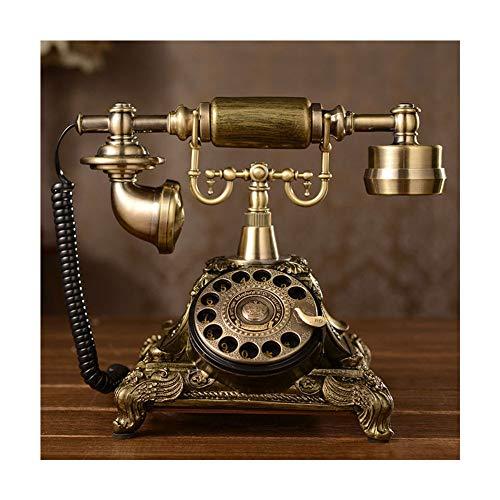 Teléfono con Cable, Teléfono con Cable Retro Vintage Teléfono Antiguo de Escritorio con Contestador Automático para el Hogar Oficina De NegociosTeléfonos analógicos