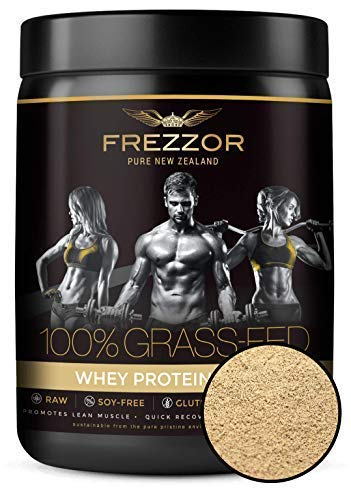 FREZZOR 100% Grass-FED WHEY Protein Shake 2-Pack, New Zealand, Chocolate Cacao, Keto Friendly, 24 Superfoods, 29g Protein, 22g BCAAs, GMO-Free, rBGH-Free, No Added Sugar, No Preservatives, 2 Count