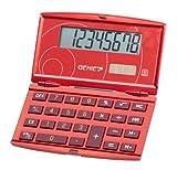 Genie 200 - Calculadora plegable con pantalla para 8 cifras, color rojo