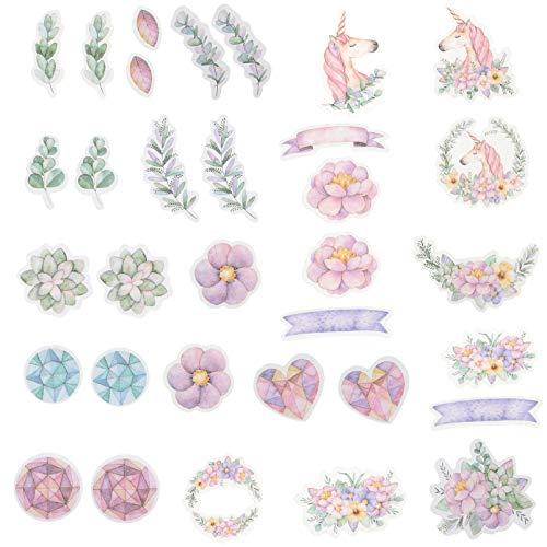 MILISTEN 2 Cajas Pegatinas de Scrapbooking DIY Pegatinas de Cuaderno Creativo Vintage Papelería Pegatina Retro Craft Sticker