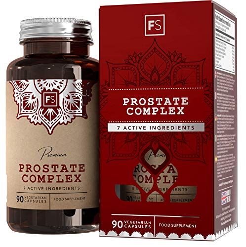 FS Prostate Supplement for Mens Health | Powered by Saw Palmetto, Nettle Leaf and Zinc | With Pumpkin Seed Extract | 90 Vegetarian Capsules | Made in the UK in ISO Facilities | Non GMO & Gluten Free