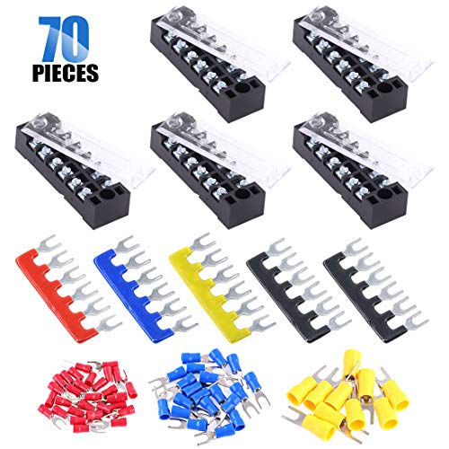 450V 25A 12 Positions Terminal Electric Barrier Strip Block 9-22AWG