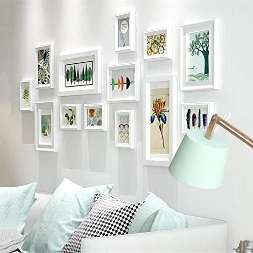 Lizp Europäischer Stil Bilderrahmen Wand Collage Weiß Blau Massivholz Rahmen Wand Fotorahmenwand Creative Fotorahmen Wand Set Bilderrahmen Set Verschiedene Größen