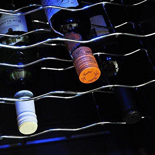 Klarstein MKS-3 - Cave à vin refrigérée, Minibar, 24 bouteilles, 68 L, Ecran tactile, Porte transparente, 2 parties avec température différente, noir