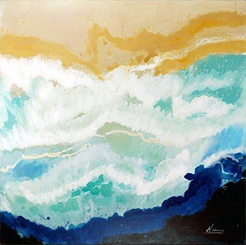 Desert Waves I – Abstraktes Gemälde 90x90cm – Martin Klein – Acrylgemälde - Abstraktes Bild - Moderne Kunst - handgemalt und signiert