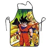 N\A Grembiule da Cucina Dragon Ball Super God Man, Bavaglino Professionale per Uomo e Donna, Grembiule Anti-Grasso, Grembiule da Esterno
