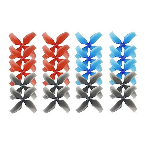Cuchillas de hélice de dron RC, Palas de hélice de ABS, Cubo de 1 mm ABS 16g Cubo DE Basura Duradero FPV Racing Drone SNAPPER7 para MOBULA7 Tiny 7 / 7X