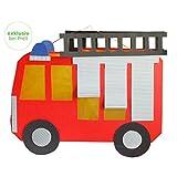 Laternen Bastelset Feuerwehrauto, 34 x 28 cm, 4 Stück