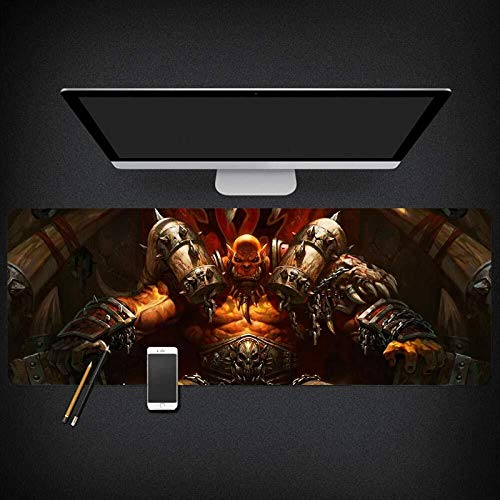 Gaming Mouse Pad World of Warcraft Wow Garrosh Hellscream Large Mouse Mat Game Keyboard Mat Cafe Mat Mousepad for Computer PC Mouse Pad (Size : 9004003mm)