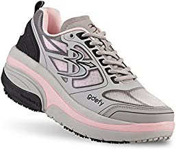 Gravity Defyer Proven Pain Relief Women's G-Defy Ion Comfortable Walking Shoes for Plantar Fasciitis, Heel Pain, Knee Pain Gray, Pink