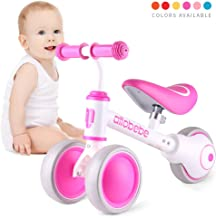 allobebe Balance Bike, Ride on Toys for 1 Year Old Perfect Toddler Bike for Baby to Scoot Around with Smooth Silent 3 Wheels