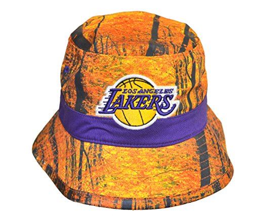 Mitchell And Ness Los Angeles Lakers Camo Blue Bucket Hat