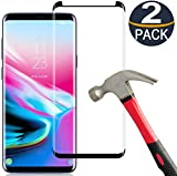 [2-Pack] Keklle Galaxy S9 Screen Protector, Case Friendly,Bubble-Free,Scratch-Resistant,Anti-Fingerprint,9H Hardness 3D Curved Tempered Glass Film Suitable for Samsung S9