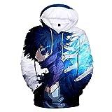 Boku No Hero Academia Hoodie 3D Printed Hooded Pullover Sweatshirt (Small, Style 1)