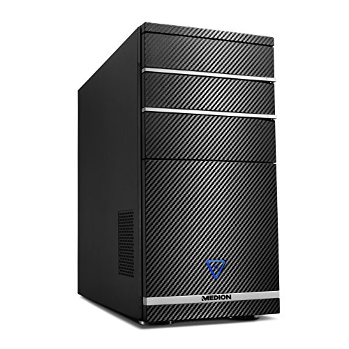 MEDION AKOYA PCC732 3.2GHz i7-8700 Schwarz - PCs/Workstations (3,2 GHz, Intel® Core™ i7 der achten Generation, i7-8700, 8 GB, DDR4-SDRAM, 1128 GB)