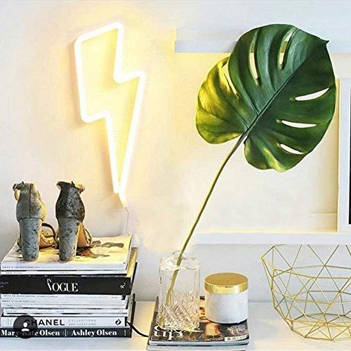 Forma de rayo LED Luz de neón Arte decorativo Luces Decorativas Decoración de la pared para la habitación del bebé Suministros para el banquete de boda de Navidad (luz blanca cálida)