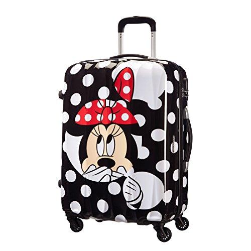 American Tourister - Disney Legends Valigia 65/24 Alfatwist, Policarbonato, Minnie Dots, 52 ml, 65 cm