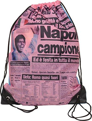 Fiori Paolo Gazzetta dello Sport Bag, Polyester, Pink/Blue, 49 cm