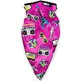 NA Bandana antivento, maschera da sci e moto – popolare motivo psichedelico, Uomo, Neon Pink Trendy anni '80, Taglia unica