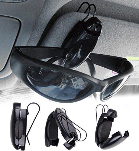 Genieforce Stabiler ► Auto Brillenhalter Visor Clip für Sonnen- oder Zweitbrille Brillenhalterung, Brillenhalter für Auto