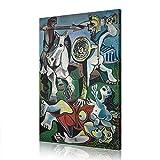 Pablo Picasso Famoso Cuadro Colección Galería Lámina Lona Ilustraciones Decoración De La Pared De La Sala De Estar (Artwork -22,60x90cm)