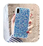 Coque pour Galaxy Note 10,Glitter Powder Sequins Soft Case for Samsung Galaxy Note 10 Pro S7 S8 S9...