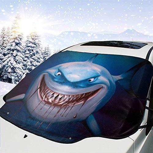 AEMAPE Finding Nemo Bruce - Cubierta de Nieve para Parabrisas de Coche multifunción, Parasol de Coche, Impermeable, Cubierta de Invierno para Hielo, Nieve, Escarcha y protección Solar, 147 x 118 cm