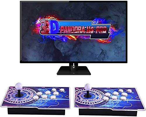OneV FT 3399 juegos en 1: máquina de juegos Arcade Family Pandoras Box multijugador Joystick 2 jugadores con dos joysticks separados para PC, portátil, TV, PS3.