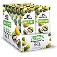 12-Pack Little Secrets Candy Coated Dark Chocolate Candies Toasted Coconut